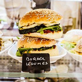 burger végétarien, burger légumes, vegetarian burger, veggie burger