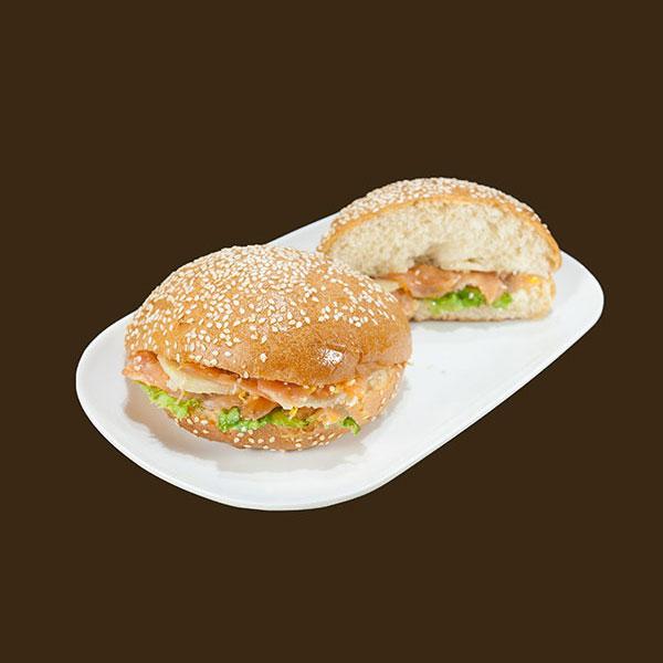 burger au saumon, salmon burger