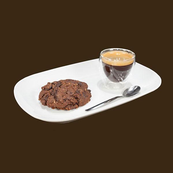cookie chocolat, café, boisson chaude, chocolate cookie, coffee, hot drink